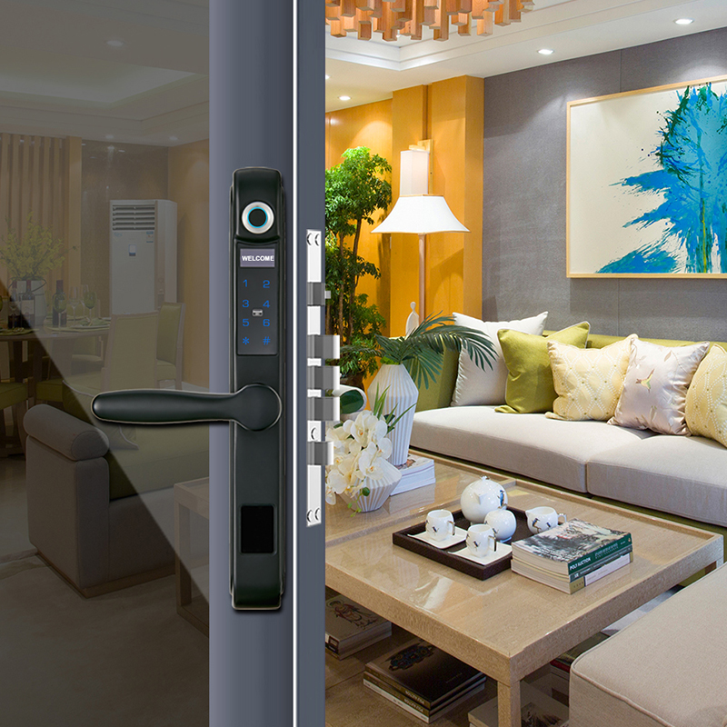 Keyless Entry Biometric Fingerprint Aluminum Door Smart Lock81 - Ajmer